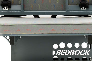 Bedrock reclining bed - rear detail